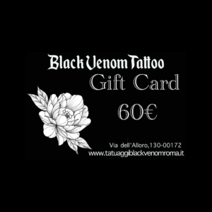 Gift Card Tattoo del Valore di 60€